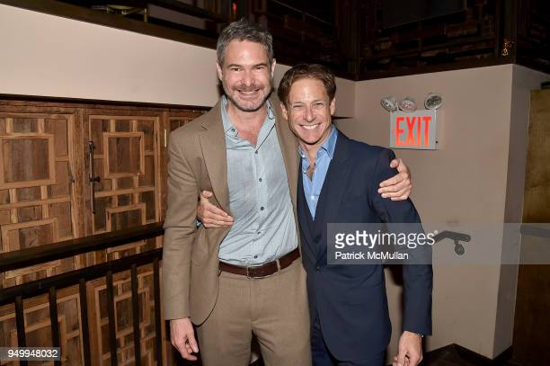 Bronson Van Wyck and Billy Macklowe attend Billy Macklowe's 50th Birthday Spectacular at Chinese Tuxedo on April 21 2018 in New York City