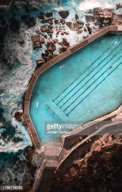 bronte baths - sydney stock pictures, royalty-free photos & images