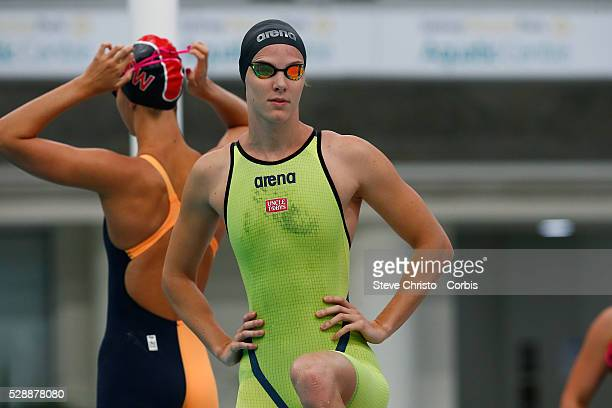 Bronte Campbell during the start off the heats for the womens 100m freestyle at the Hancock Prospecting Australian Short Course Championships in The...