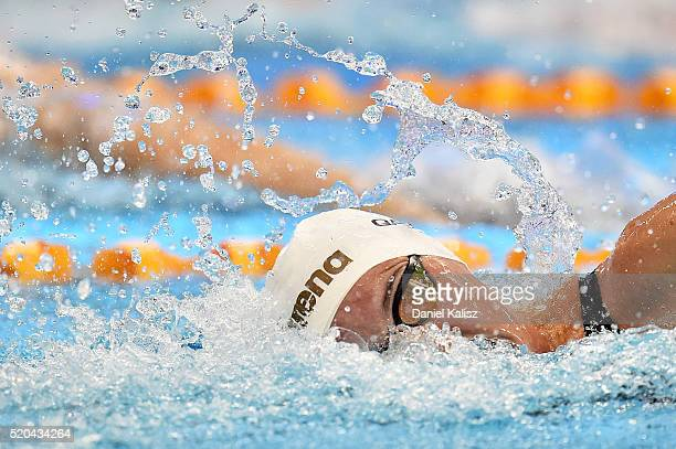 Bronte Campbell of Australia competes in the Women's 100 metre Freestyle during day five of the Australian Swimming Championships at the South...
