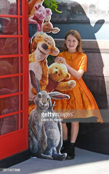 Bronte Carmichael attends the European Premiere of Christopher Robin at the BFI Southbank on August 5 2018 in London England