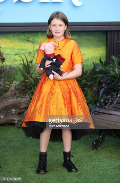 Bronte Carmichael attends the European Premiere of 'Christopher Robin' at BFI Southbank on August 5, 2018 in London, England.