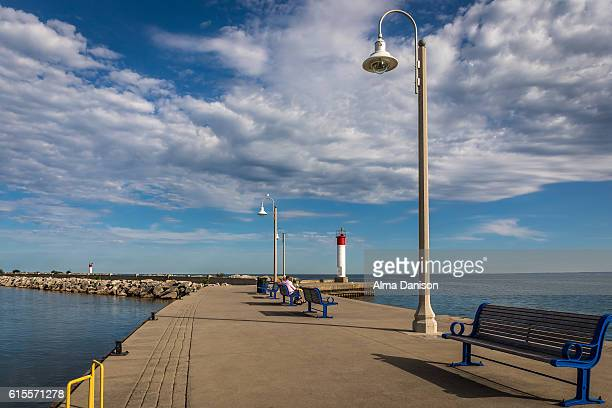 bronte harbour marina - alma danison stock photos and pictures