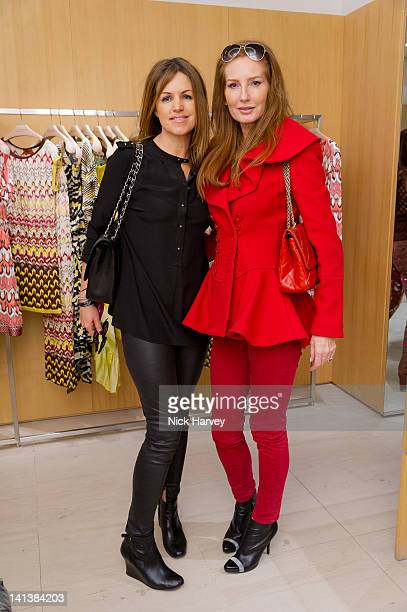 Bronwyn Fitzpatrick and Angela Dunn attend lunch hosted by Angela Missoni and Kim Hersov at Missoni on March 15, 2012 in London, England.