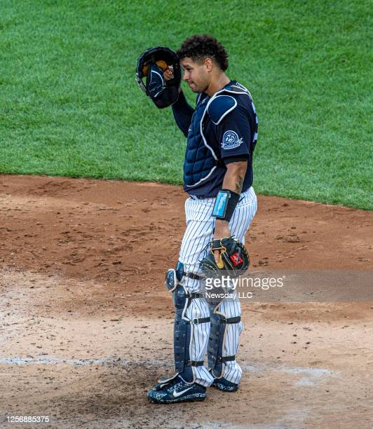 The New York Yankees' catcher Gary Sanchez during a team game at Yankee Stadium in the Bronx on July 14 2020