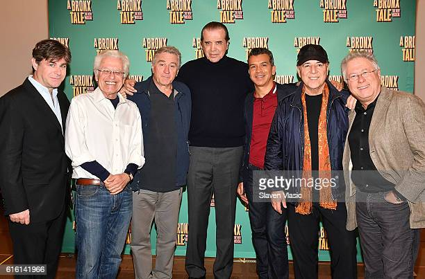 'A Bronx Tale The Musical' creative team lyricist Glenn Slater codirector Jerry Zaks codirector Robert De Niro Writer/actor Chazz Palminteri...