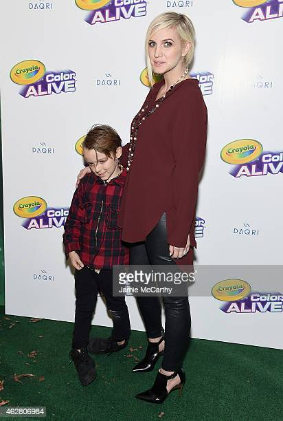 Bronx Wentz and Ashlee Simpson Ross attend Color Alive Launch Event Hosted By Ashlee Simpson Ross at Open House Gallery on February 5 2015 in New...