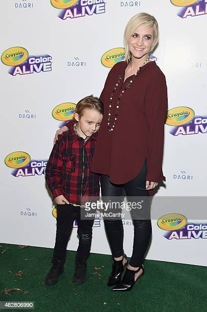 Bronx Wentz and Ashlee Simpson Ross attend 'Color Alive' Launch Event Hosted By Ashlee Simpson Ross at Open House Gallery on February 5 2015 in New...
