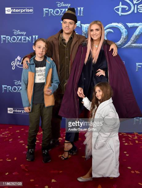 Bronx Wentz Evan Ross Ashlee Simpson and Jagger Snow Ross attend the Premiere of Disney's Frozen 2 at Dolby Theatre on November 07 2019 in Hollywood...