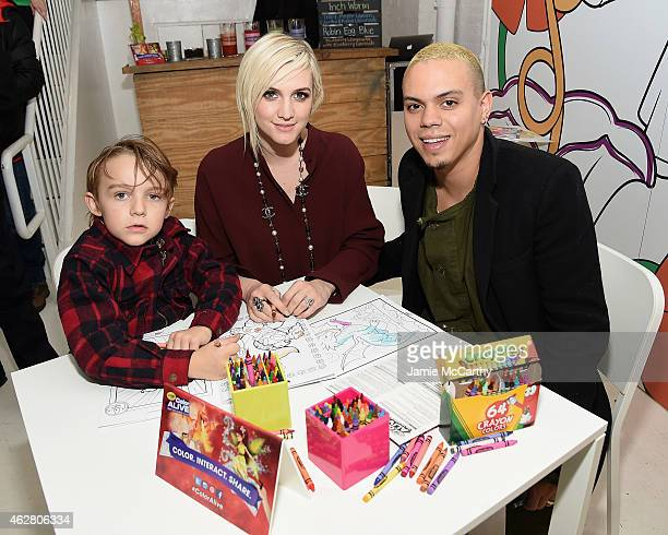 Bronx WentzAshlee Simpson Ross and Evan Ross attend Color Alive Launch Event Hosted By Ashlee Simpson Ross at Open House Gallery on February 5 2015...
