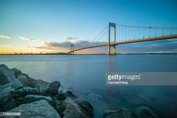 bronx whitestone bridge - flushing queens stock pictures, royalty-free photos & images