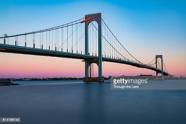 Bronx-Whitestone Bridge during Sunrise