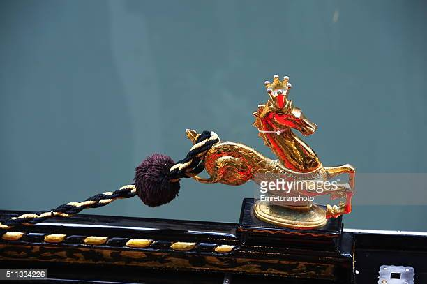 bronze accessory of a gondola - emreturanphoto stock pictures, royalty-free photos & images