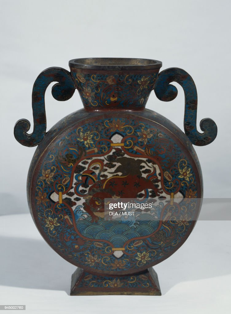Bronze And Cloisonne Enamel Vase Height 30 Cm Pictures Getty Images