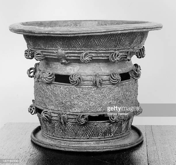 A bronze ceremonial wine bowl Nigeria Igbo Ukwu Period/Date 9th century AD