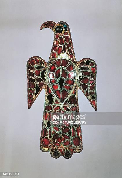 Bronze fibula in shape of an eagle from Calatayud near Zaragoza Visigothic civilization