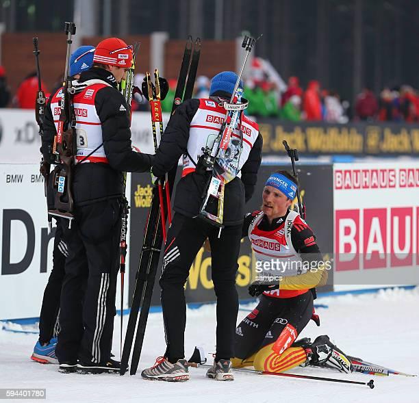 Bronze fpr die Deutsche Männerstaffel mit Simon Schempp GER Deutschland germany Andreas Birnbacher GER Deutschland germany Arnd Peiffer GER Germany...