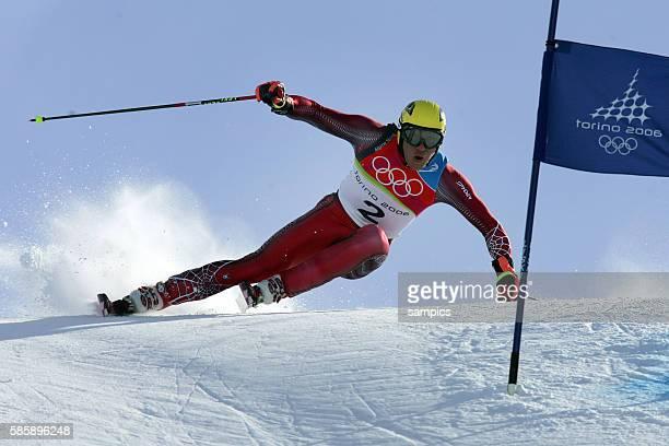 Bronze fr Hermann Maier AUT Riesenslalom der Herren giant slalom men 20 2 2006 olympische Winterspiele in Turin 2006 olympic winter games in torino...