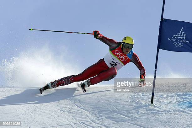 Bronze fr Hermann Maier AUT Riesenslalom der Herren giant slalom men 20 2 2006 olympische Winterspiele in Turin 2006 olympic winter games in torino...