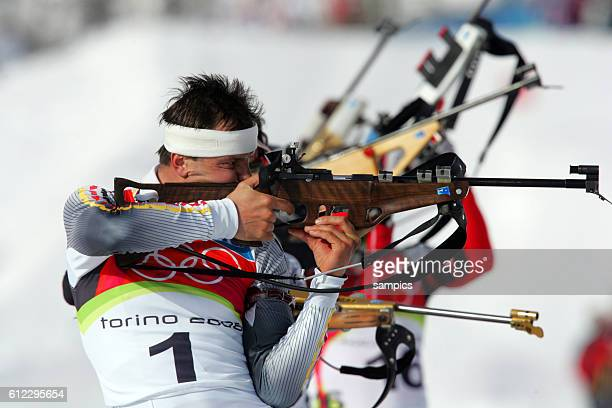 Bronze fr Sven Fischer GER Biathlon Verfolgung Herren 12 5 km olympische Winterspiele in Turin 2006 olympic winter games in torino 2006