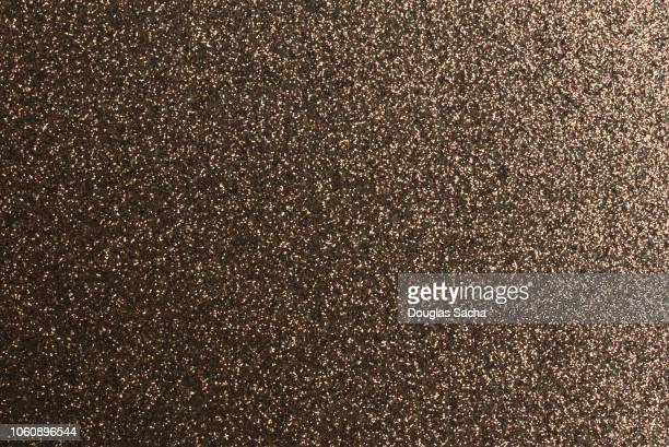 bronze glitter - bronze colored stock pictures, royalty-free photos & images