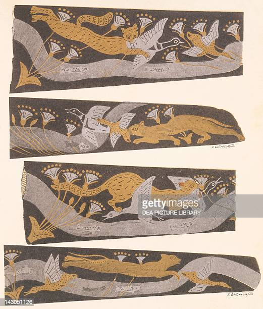 Bronze, gold and silver daggers by Sir Arthur Evans , from The Palace of Minos Palace, London. Greece, 20th Century.