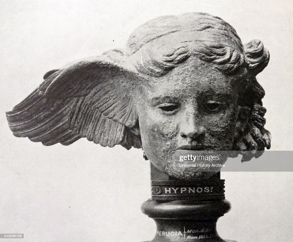 Bronze Head of Hypnos, the Greek God of Sleep  Dated 1st