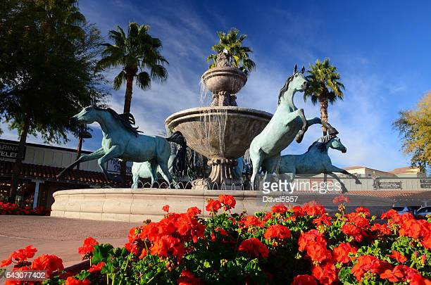 Bronze Horse Fountain in Downtown Scottsdale