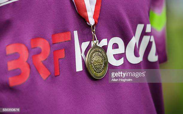 Bronze medal for FC Midtjylland after the Danish Alka Superliga match between FC Midtjylland and FC Nordsjalland at MCH Arena on May 29 2016 in...