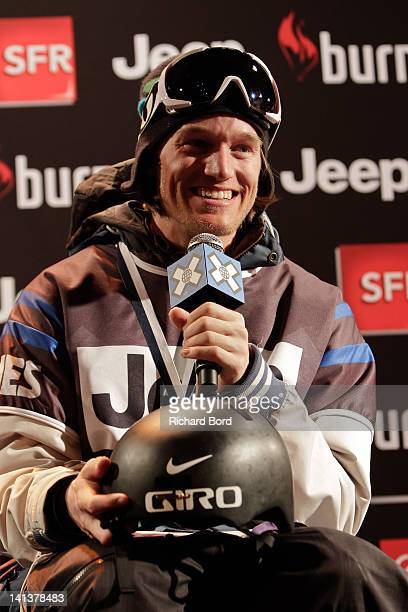 Bronze medalist Andreas Hatveit of Norway speaks during the Men's Ski Slopestyle Final press conference of the Winter XGames Europe on March 15 2012...