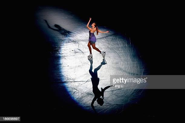 Bronze medalist Carolina Kostner of Italy performs during Lexus Cup of China ISU Grand Prix of Figure Skating 2013 at Beijing Capital Gymnasium on...