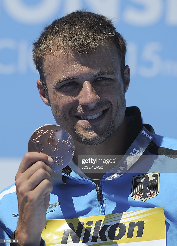 Bronze Medalist Germany's Sascha Klein Poses With His