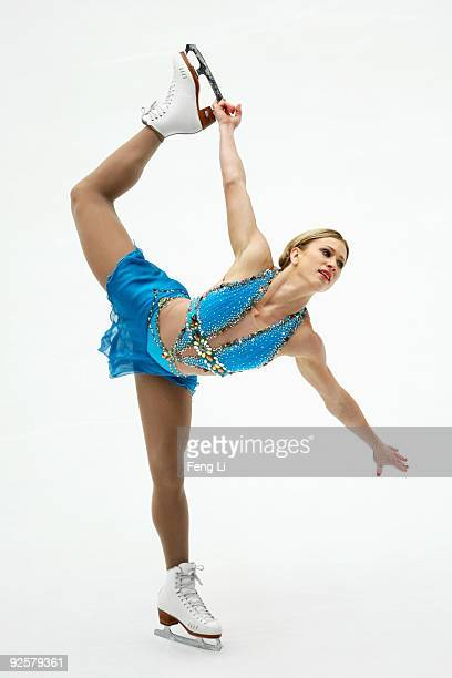 Bronze medalist Joannie Rochette of Canada skates in the Ladies Free Skating during the Cup of China ISU Grand Prix of Figure Skating 2009 at Beijing...