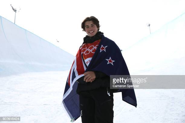 Bronze Medalist Nico Porteous Of New Zealand Poses After The Freestyle Skiing Mens Ski Halfpipe Final