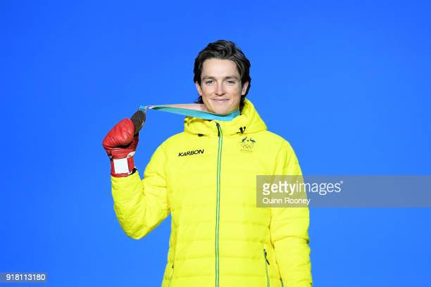 Bronze medalist Scotty James of Australia poses during the medal ceremony for the Snowboard Men's Halfpipe Final on day five of the PyeongChang 2018...