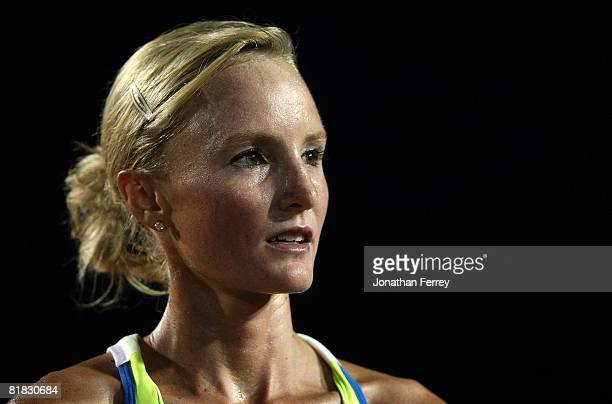 Bronze medalist Shalane Flanagan is pictured after the women's 5000 meter final during day six of the US Track and Field Olympic Trials at Hayward...