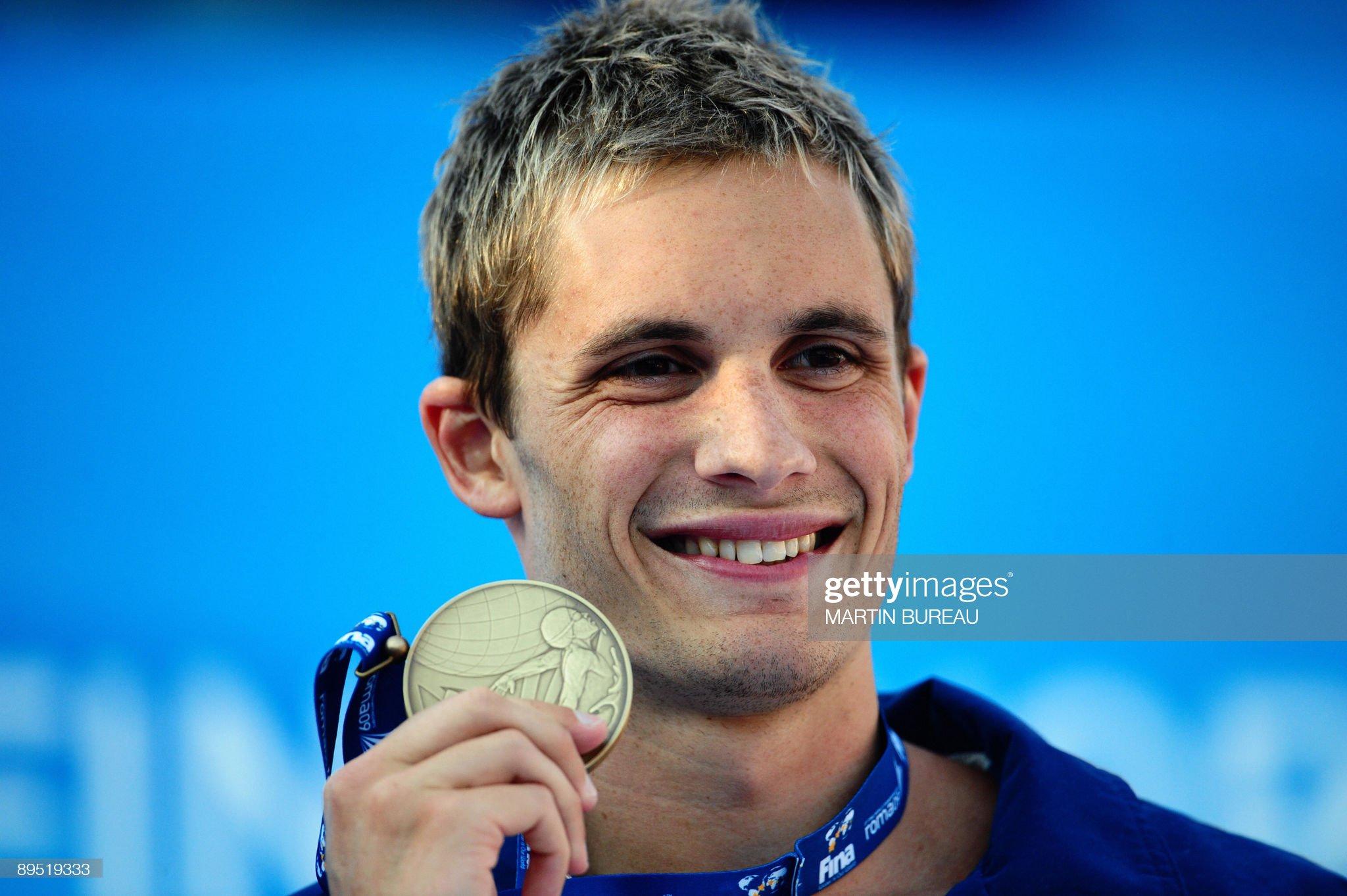 Bronze medalist  US Eric Shanteau poses : Fotografía de noticias