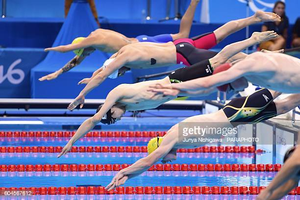 Bronze medalist YAMADA Takuro of JAPAN competes in the Men's 50m Freestyle S9 Final on day 6 of the Rio 2016 Paralympic Games at Olympic Aquatics...