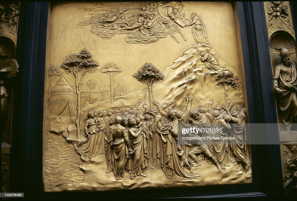 Bronze panel doors (known as the Gates of Paradise by Lorenzo Ghiberti) on the & Bronze panel doors (known as the Gates of Paradise by Lorenzo ...