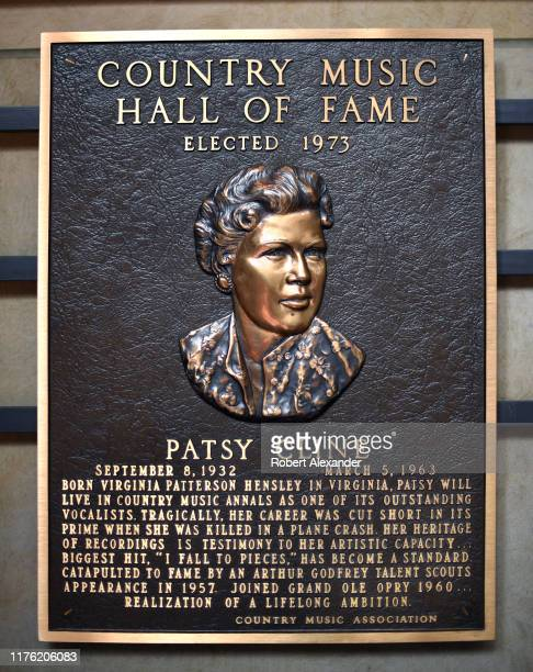 A bronze plaque at the Country Music Hall of Fame and Museum in Nashville Tennessee honors Hall of Fame member Patsy Cline Country Music Hall of Fame...