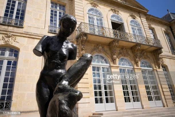 Bronze sculpture by Auguste Rodin is seen in the garden of the Rodin museum in Paris, France, on August 27, 2020. It opened its doors in 1919 in the...