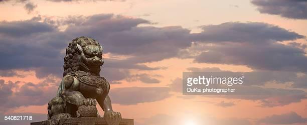 Bronze Sculpture of Lion  at Forbidden City