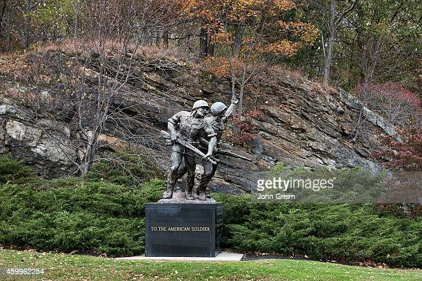 Bronze sculpture tribute to the American Soldier at West Point Military Academy