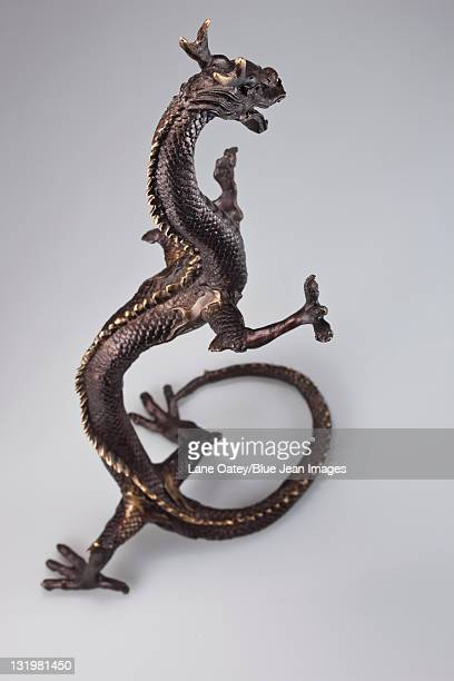 Bronze statue of a Chinese dragon