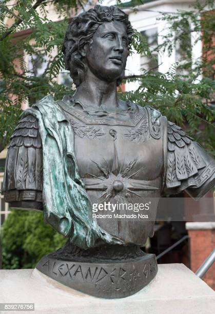 Bronze statue of Alexander the Great at Danforth and Logan Avenues The place is called Alexander the Great Parkette and is considered to be the heart...