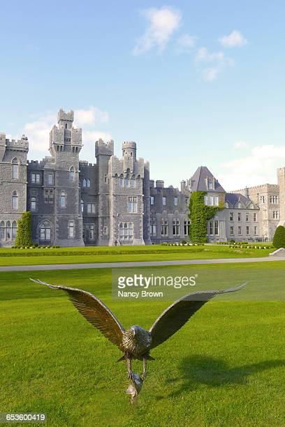 Bronze Statue of Falcon in Ashford Castle Ireland.