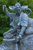 detailed view shows shibaraku statue a