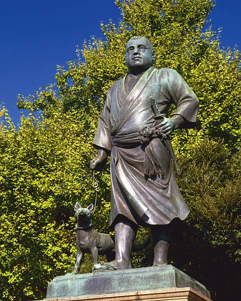 Bronze statue of takamori Sigo