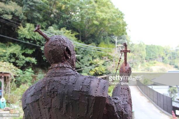 bronze statue of takayama ukon - shinichi igusa ストックフォトと画像