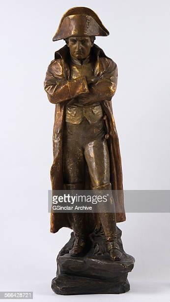 Bronze statue representing Napoleon Bonaparte with arms folded cica 1900 attributed to Fritz Kochendorfer